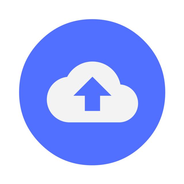 Download cloud data, computer communication.