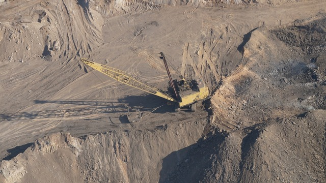 Dragline mining coal mining, science technology.