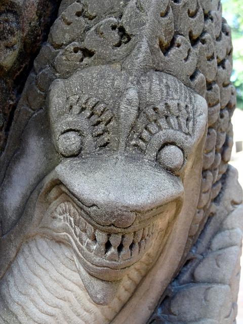 Dragon cambodia temple, religion.