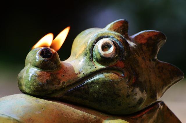 Dragon fire nostrils.