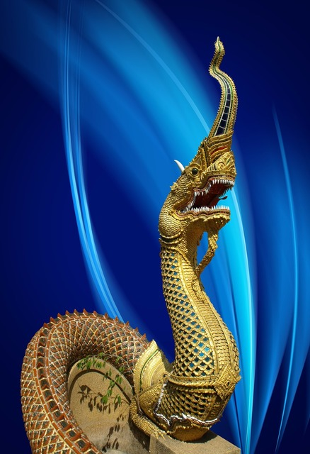 Dragon statue thailand.
