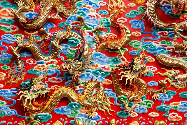 Dragons china thailand, architecture buildings.