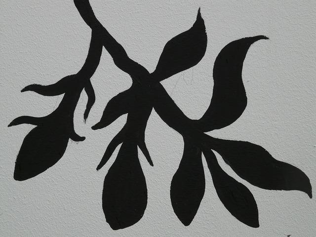 Drawing leaf branch, nature landscapes.