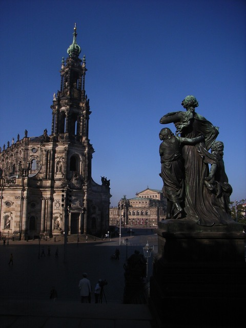 Dresden architecture sculpture, architecture buildings.
