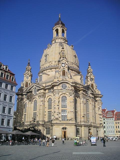Dresden city frauenkirche, architecture buildings.