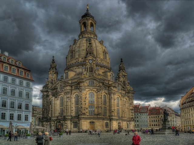 Dresden frauenkirche church, religion.