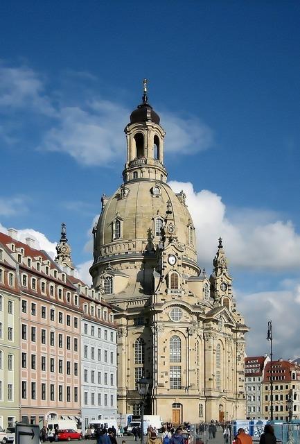 Dresden frauenkirche city, architecture buildings.