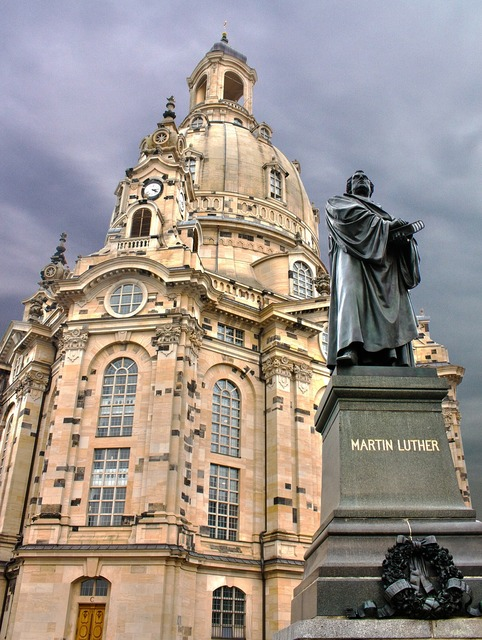 Dresden frauenkirche martin luther, architecture buildings.