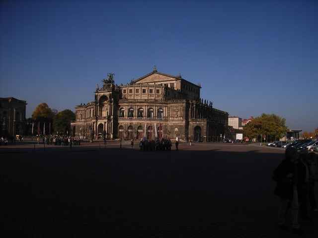 Dresden opera old town, architecture buildings.