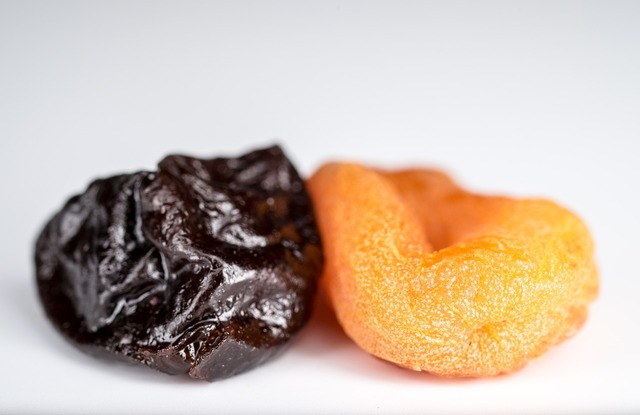 Dried apricots prunes dried fruits, food drink.