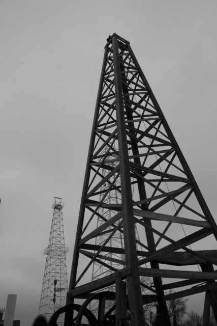 Drilling oil rig.