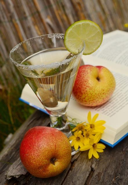 Drink glass fruits, food drink.