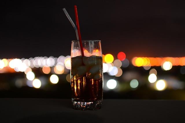 Drinking coke bokeh.