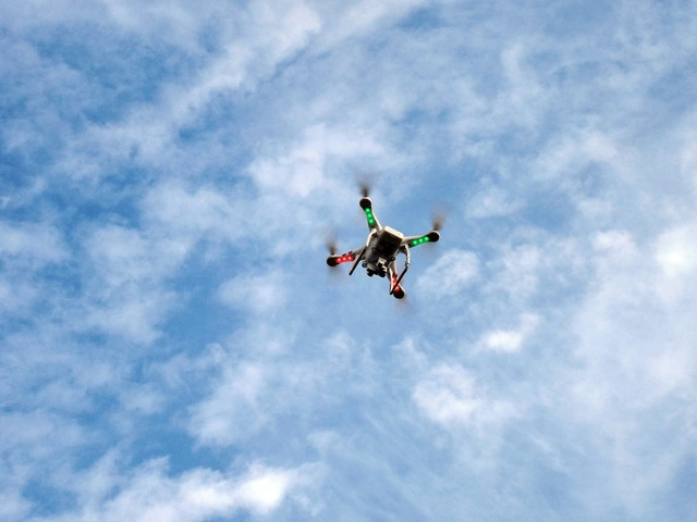 Drone quadrocopter propeller.
