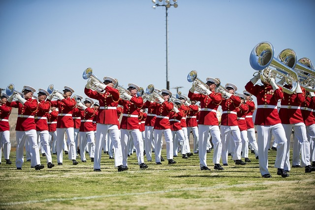 Drum and bugle corps marines performance.