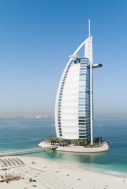 Dubai burj al arab hotel, travel vacation.
