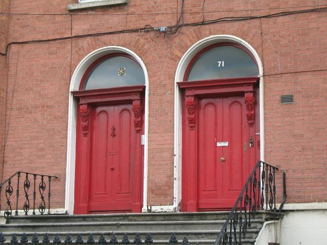 Dublin ireland door, architecture buildings.