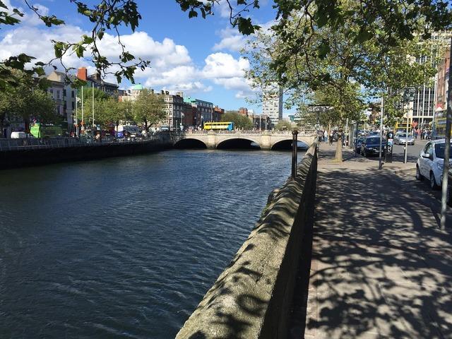 Dublin liffey rivv, travel vacation.