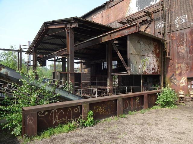 Duisburg factory building park.