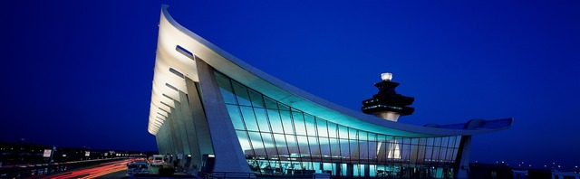 Dulles airport building, architecture buildings.