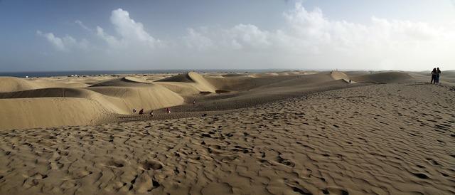 Dunes gran canaria canary islands.