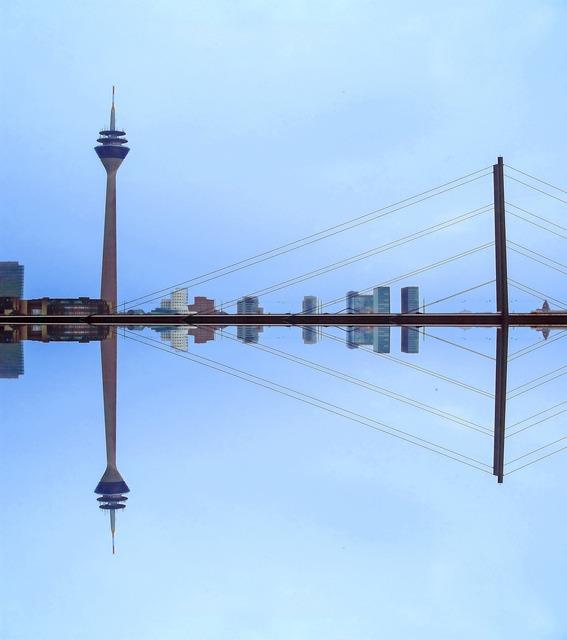 Düsseldorf tv tower bridge, places monuments.