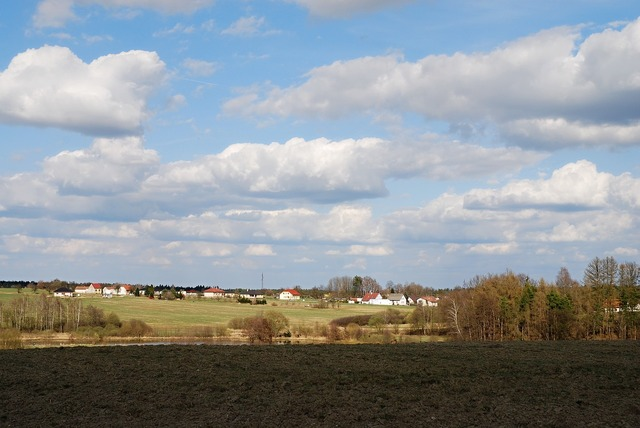 Early spring south bohemia countryside.