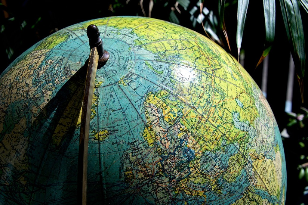 Earth globe antique, industry craft.