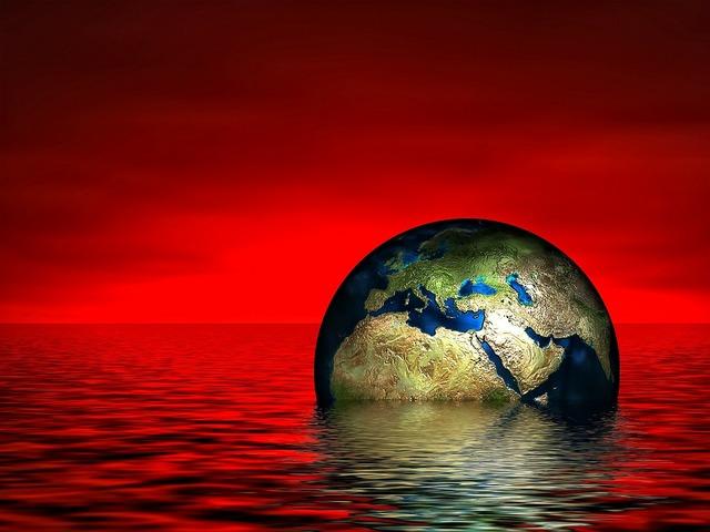 Earth globe water.