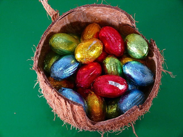 Easter eggs shell.