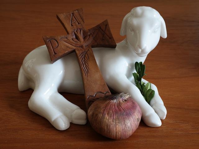 Easter lamb cross.