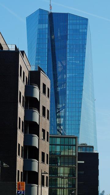 Ecb bank euro, business finance.