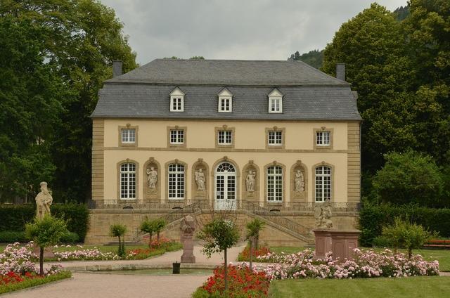 Echternach luxembourg orangerie, architecture buildings.