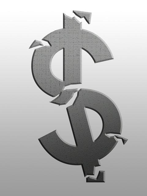 Economic crisis financial crisis dollar, business finance.