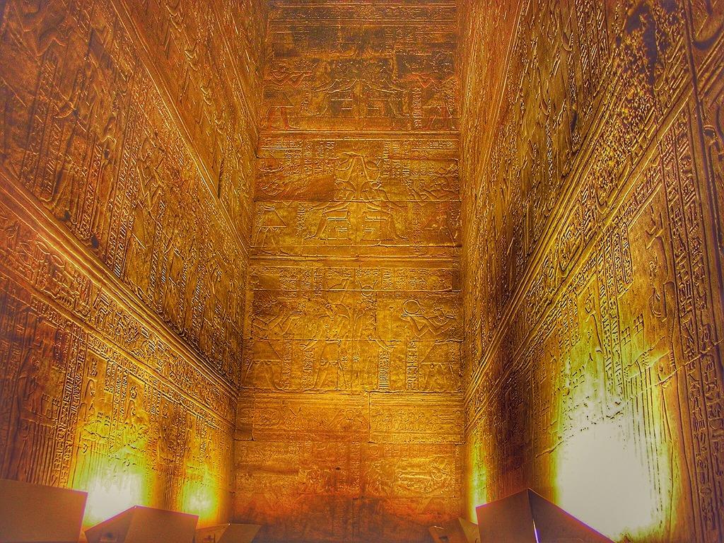 Edfu egypt horustempel, religion.