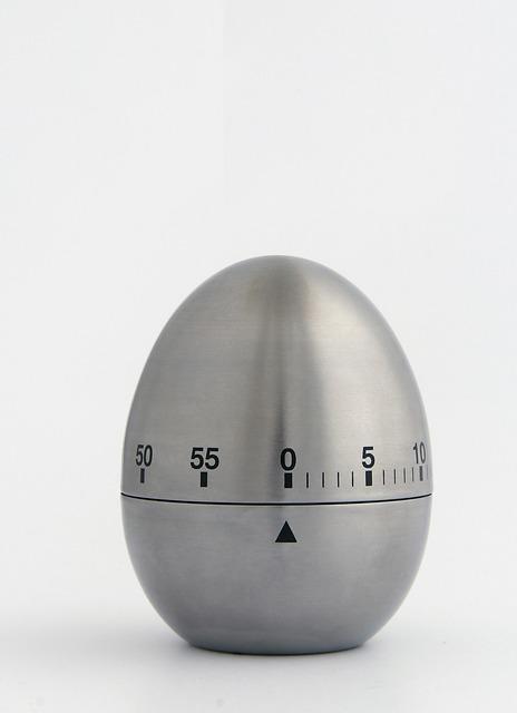Egg alarm clock grey.
