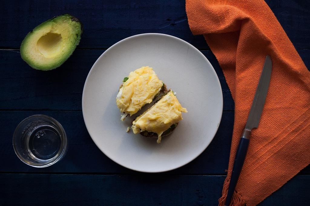 Eggs breakfast avocado, food drink.
