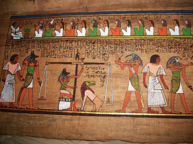 Egypt anubis judgement, religion.
