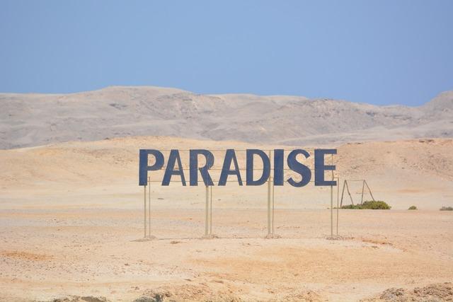 Egypt beach paradise, travel vacation.
