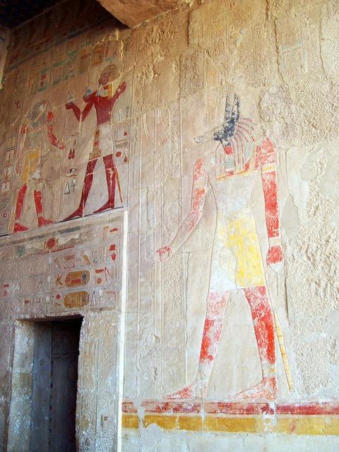 Egypt hieroglyphics temple, religion.