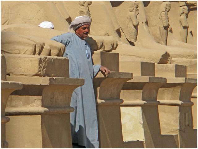 Egypt karnak luxor, architecture buildings.