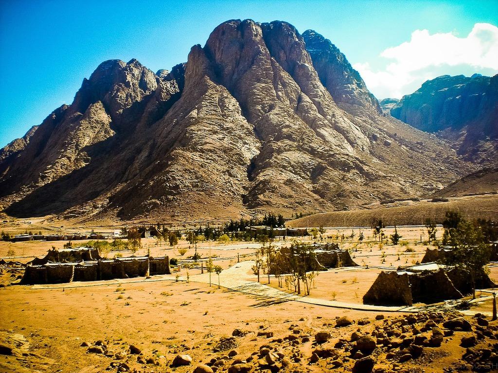 Egypt mountains rock.