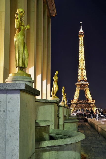 Eiffel tower landmark, places monuments.