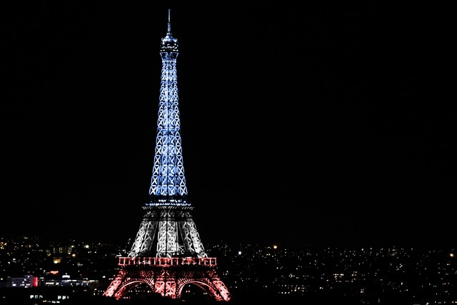 Eiffel tower national day paris.