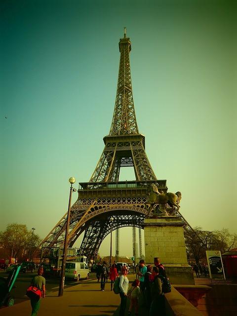 Eiffel tower paris france, architecture buildings.