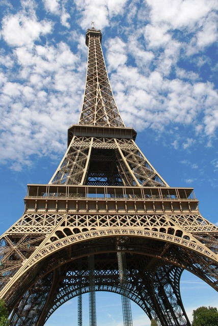 Eiffel tower paris france, places monuments.