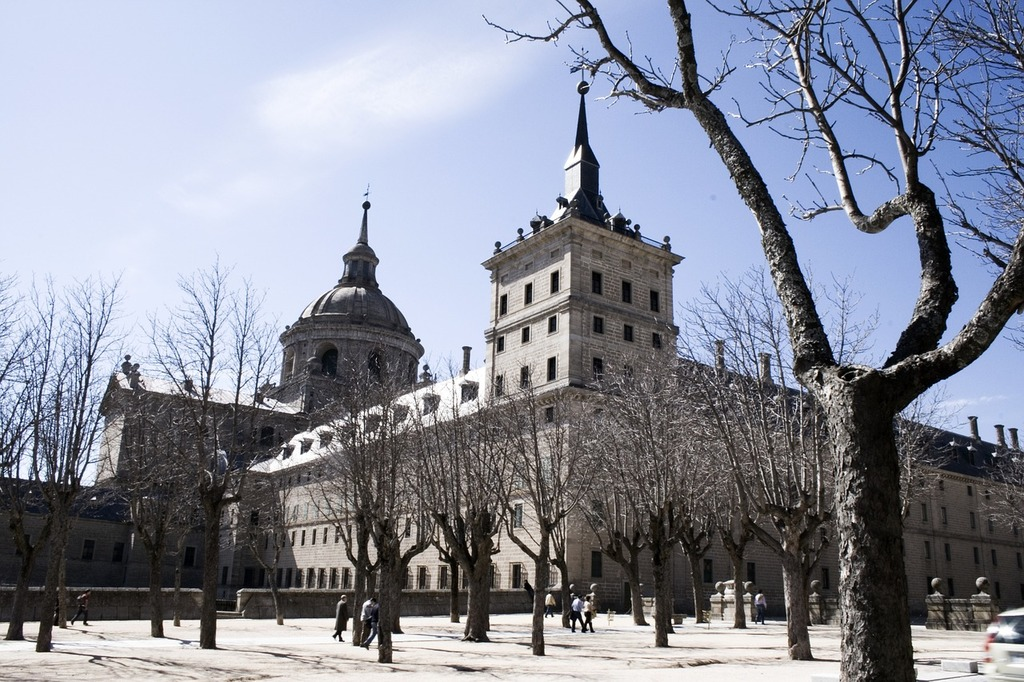 El escorial madrid blue, places monuments.