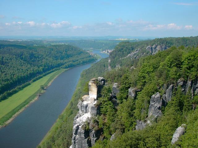 Elbe elbe sandstone mountains watchtower, nature landscapes.