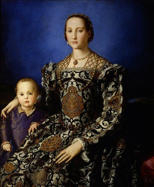 Eleanor of toledo woman child, beauty fashion.