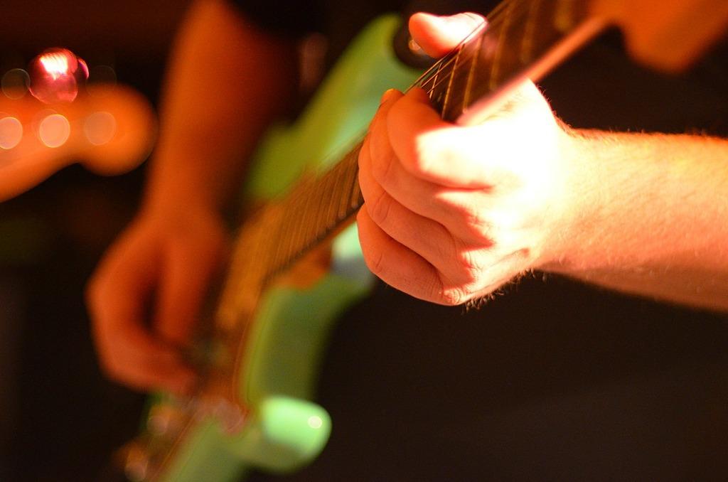 Electric guitar rock band guitar player, music.